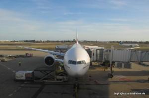 Flugzeug am Sydney Airport