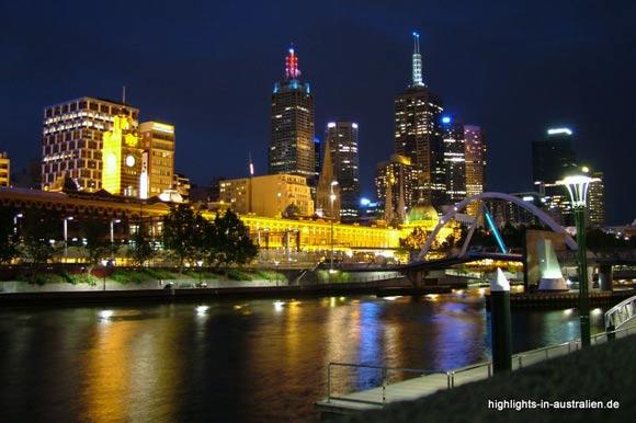 Melbourne: CBD und Yarra Fluss