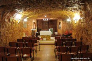 unterirdische Kirche in Coober Pedy